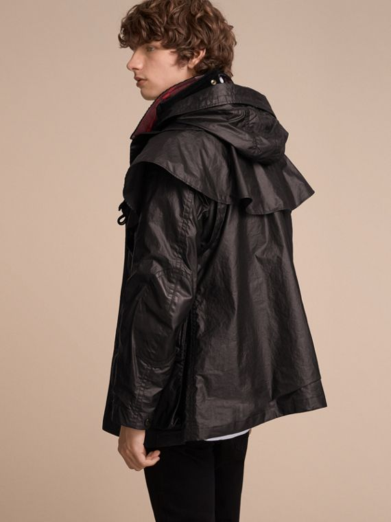 Cape Detail English-woven Waxed Cotton Field Jacket - Men | Burberry - cell image 2