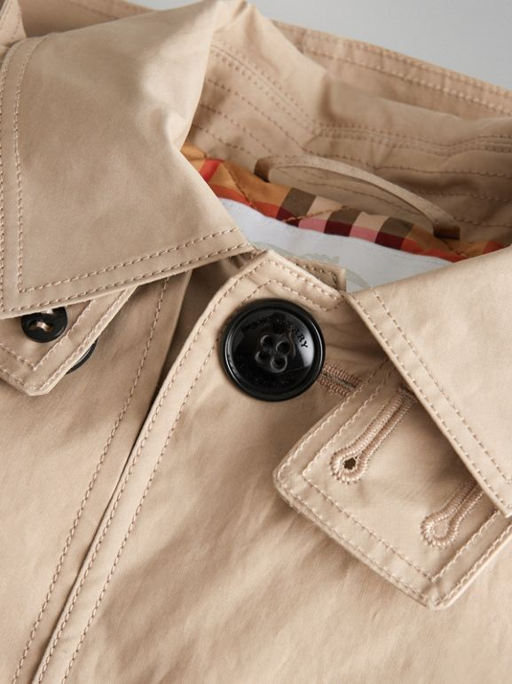 Detachable Hood Cotton Car Coat in Honey | Burberry - cell image 1