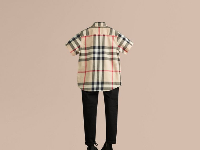 New classic Short-sleeve Check Cotton Twill Shirt New Classic - cell image 2