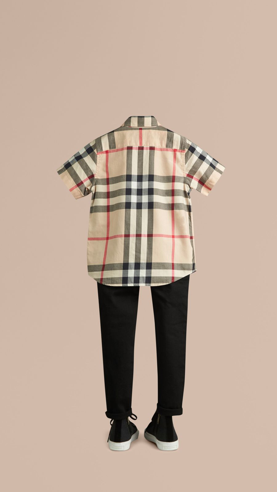 New classic Short-sleeve Check Cotton Twill Shirt New Classic - Image 3