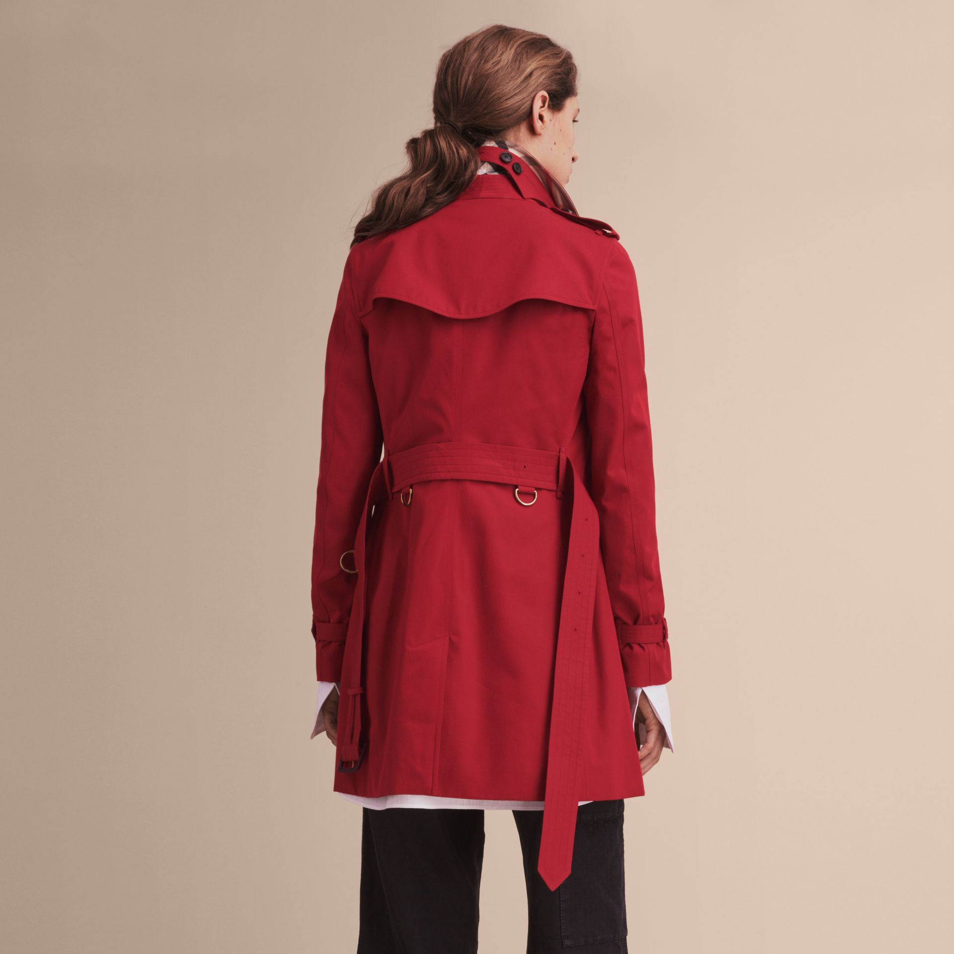 Parade red The Kensington – Mid-Length Heritage Trench Coat Parade Red - gallery image 4