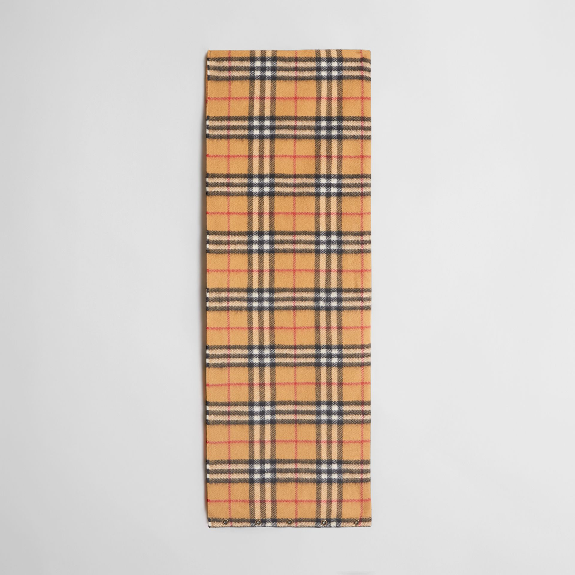 Vintage Check Cashmere Snood in Antique Yellow | Burberry Singapore - gallery image 2