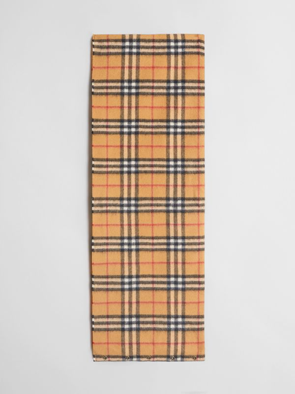 Vintage Check Cashmere Snood in Antique Yellow | Burberry Singapore - cell image 2