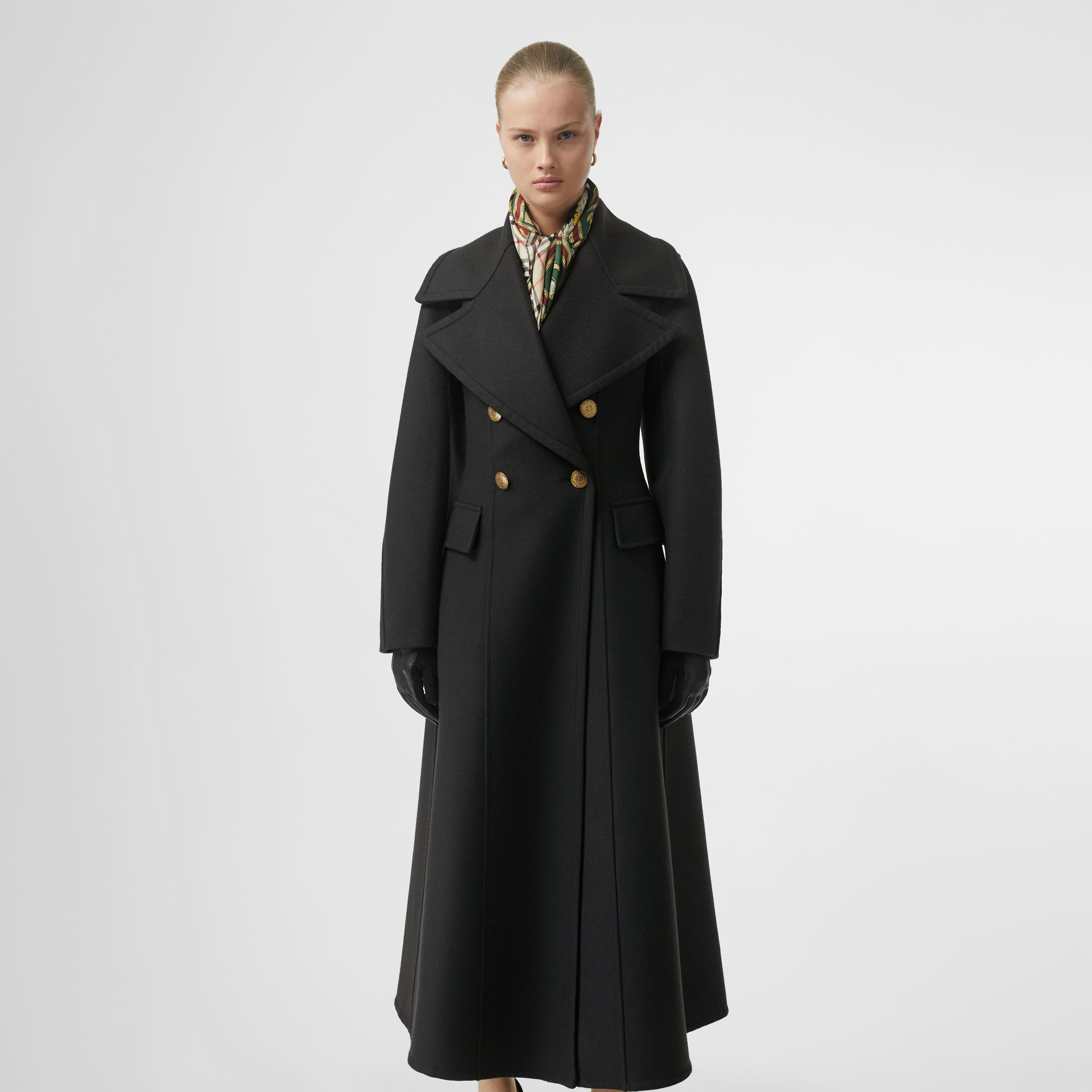 Doeskin Wool Tailored Coat in Dark Forest Green - Women | Burberry United Kingdom - gallery image 5