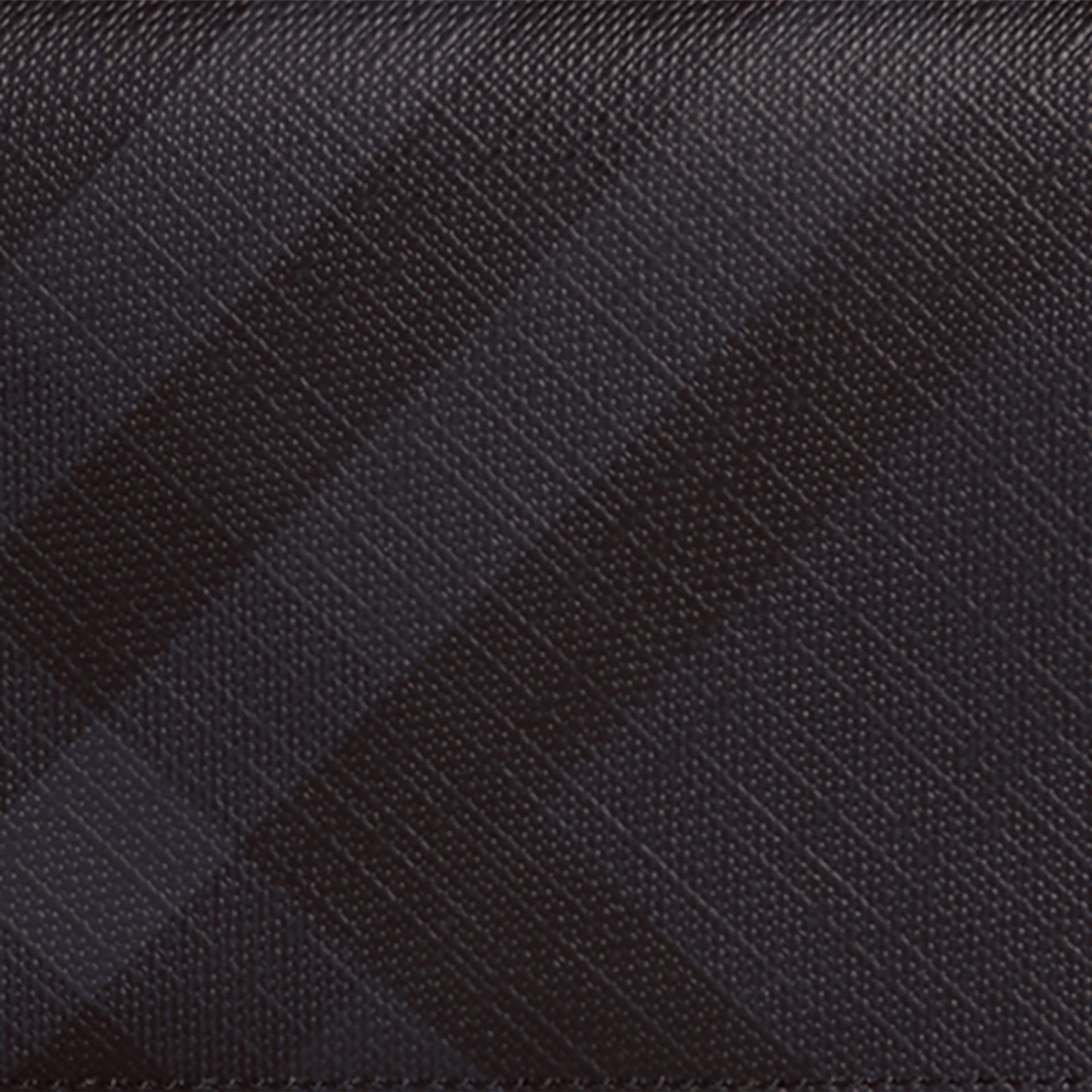 London Check and Leather Continental Wallet in Navy/black - Men | Burberry Australia - gallery image 5