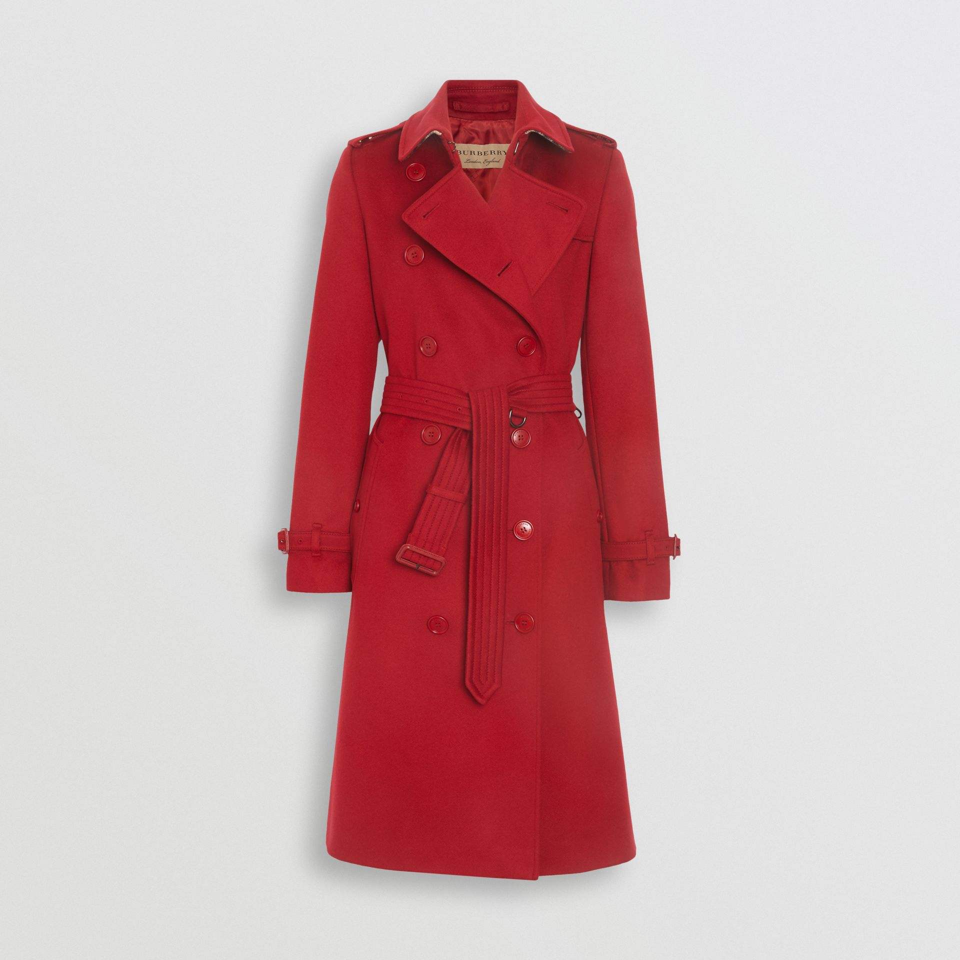 Cashmere Trench Coat in Red - Women | Burberry United Kingdom - gallery image 3