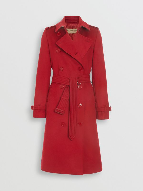 Cashmere Trench Coat in Red - Women | Burberry - cell image 3