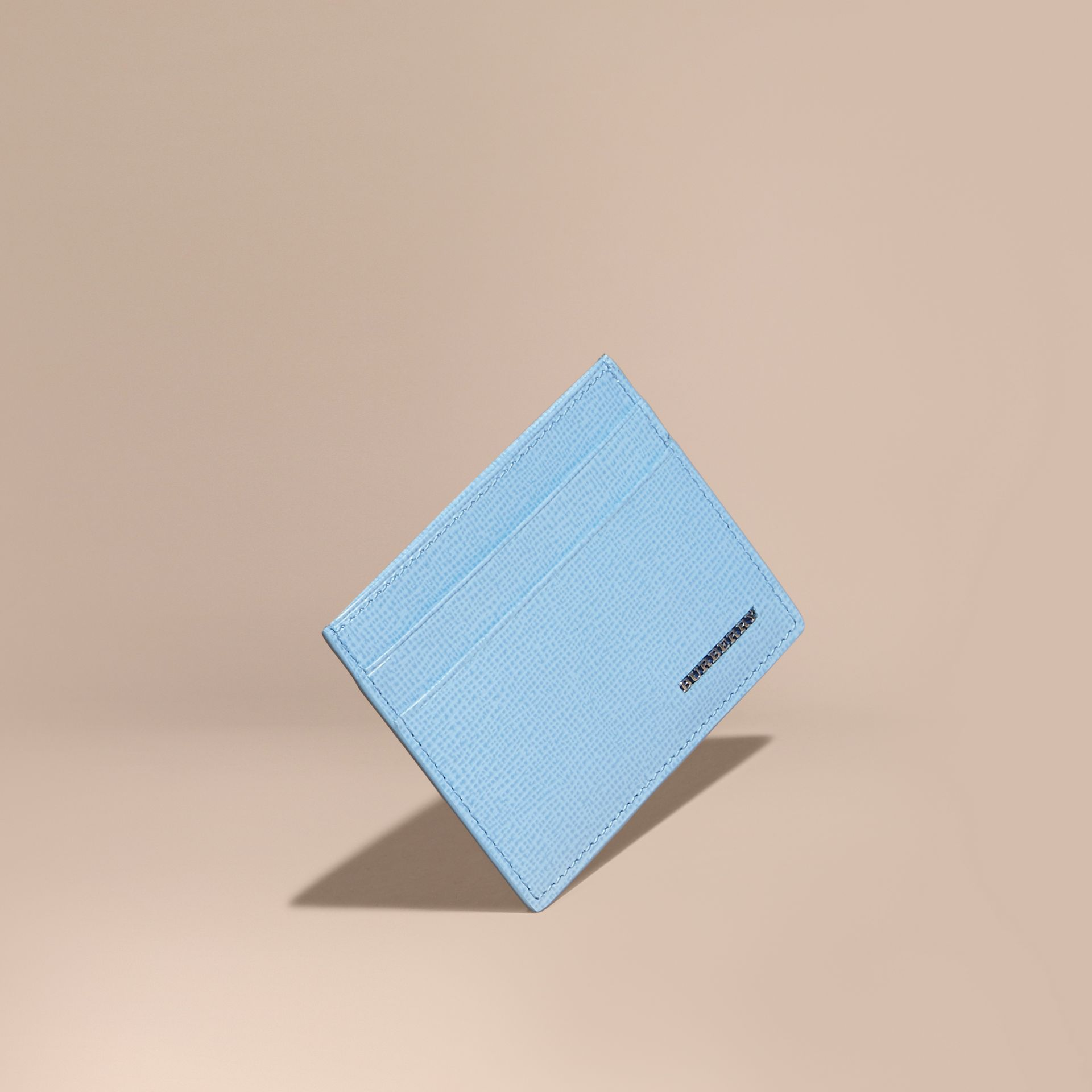 London Leather Card Case in Powder Blue - gallery image 1