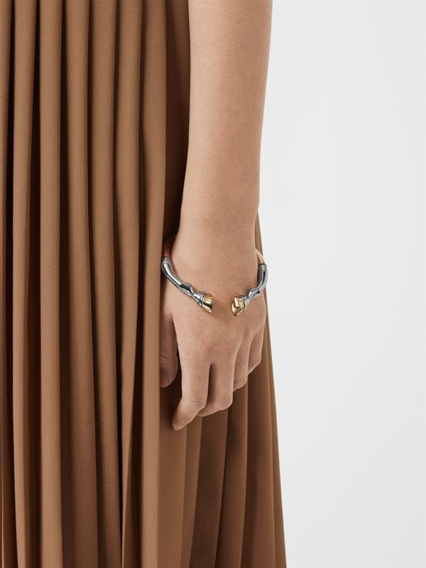 Rose Gold and Palladium-plated Hoof Cuff in /palladium/light - Women | Burberry Australia - cell image 2