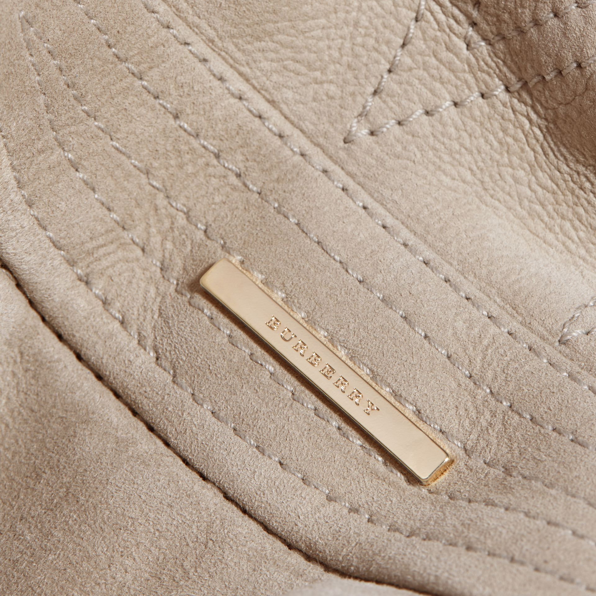 Pale grey Shearling Wrap Jacket - gallery image 2