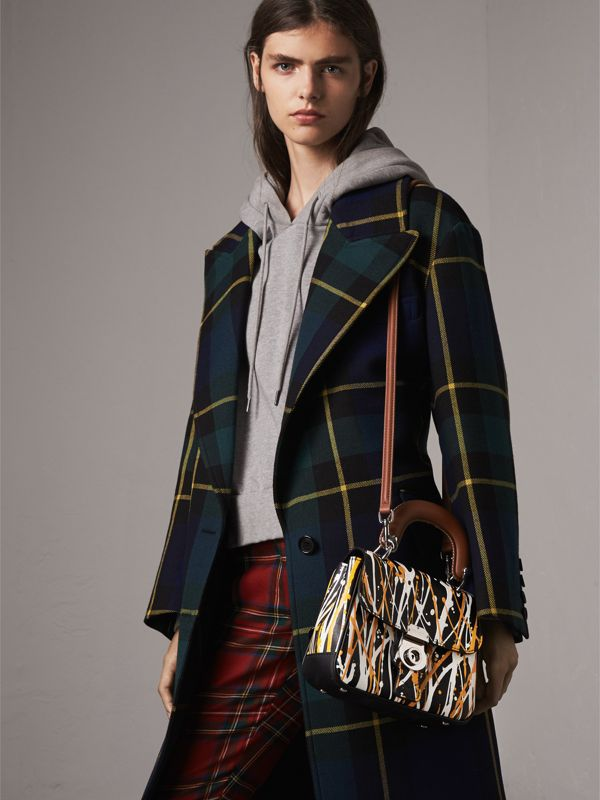The Small DK88 Splash Top Handle Bag in Black - Women | Burberry - cell image 2