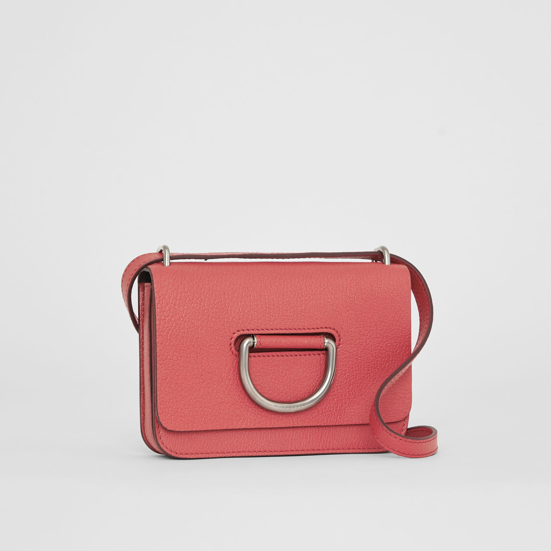 Borsa The D-ring mini in pelle (Rosa Corallo Brillante) - Donna | Burberry - immagine della galleria 6