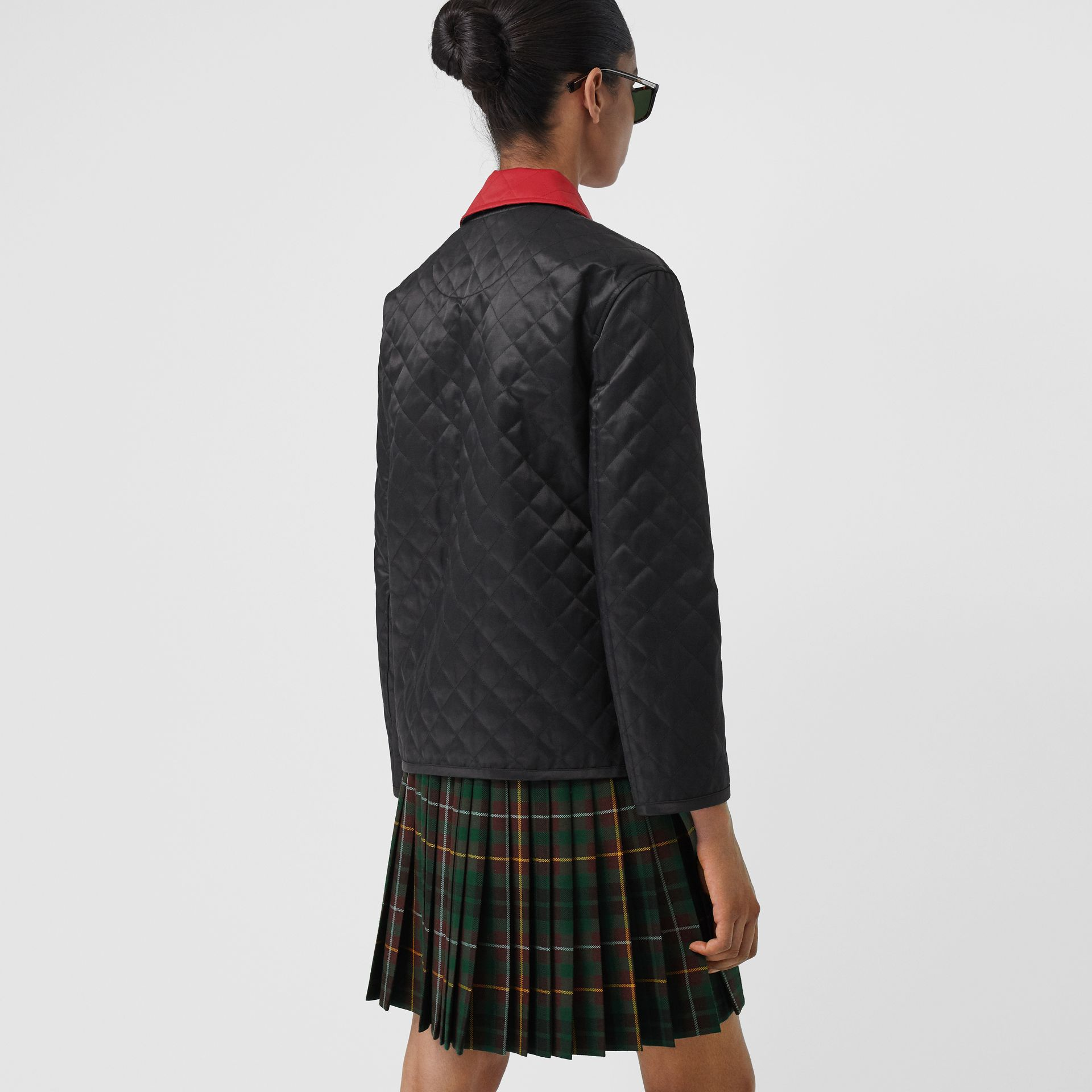 Diamond Quilted Barn Jacket in Black - Women | Burberry - gallery image 2