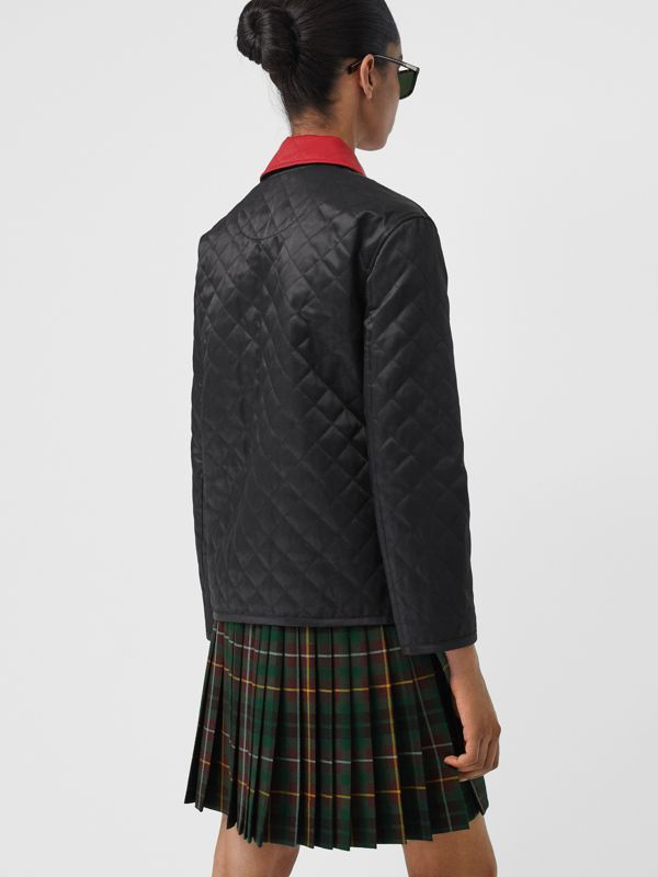 Diamond Quilted Barn Jacket in Black - Women | Burberry United Kingdom - cell image 2