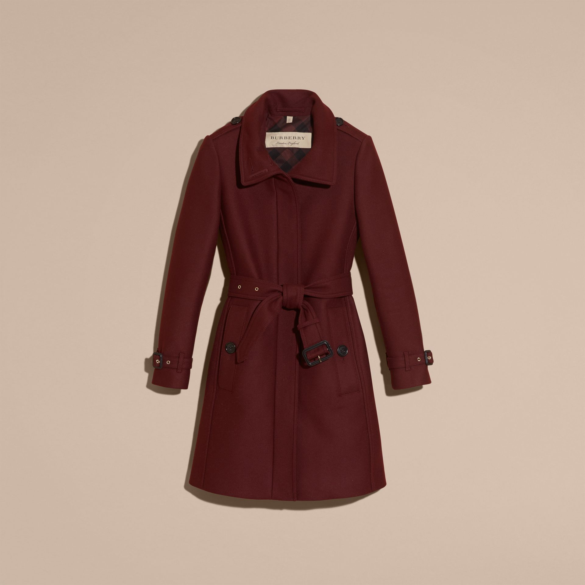 Garnet Technical Wool Cashmere Funnel Neck Coat - gallery image 4