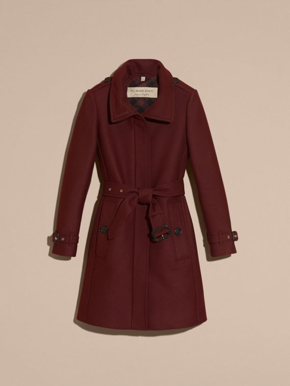 Garnet Technical Wool Cashmere Funnel Neck Coat - cell image 3