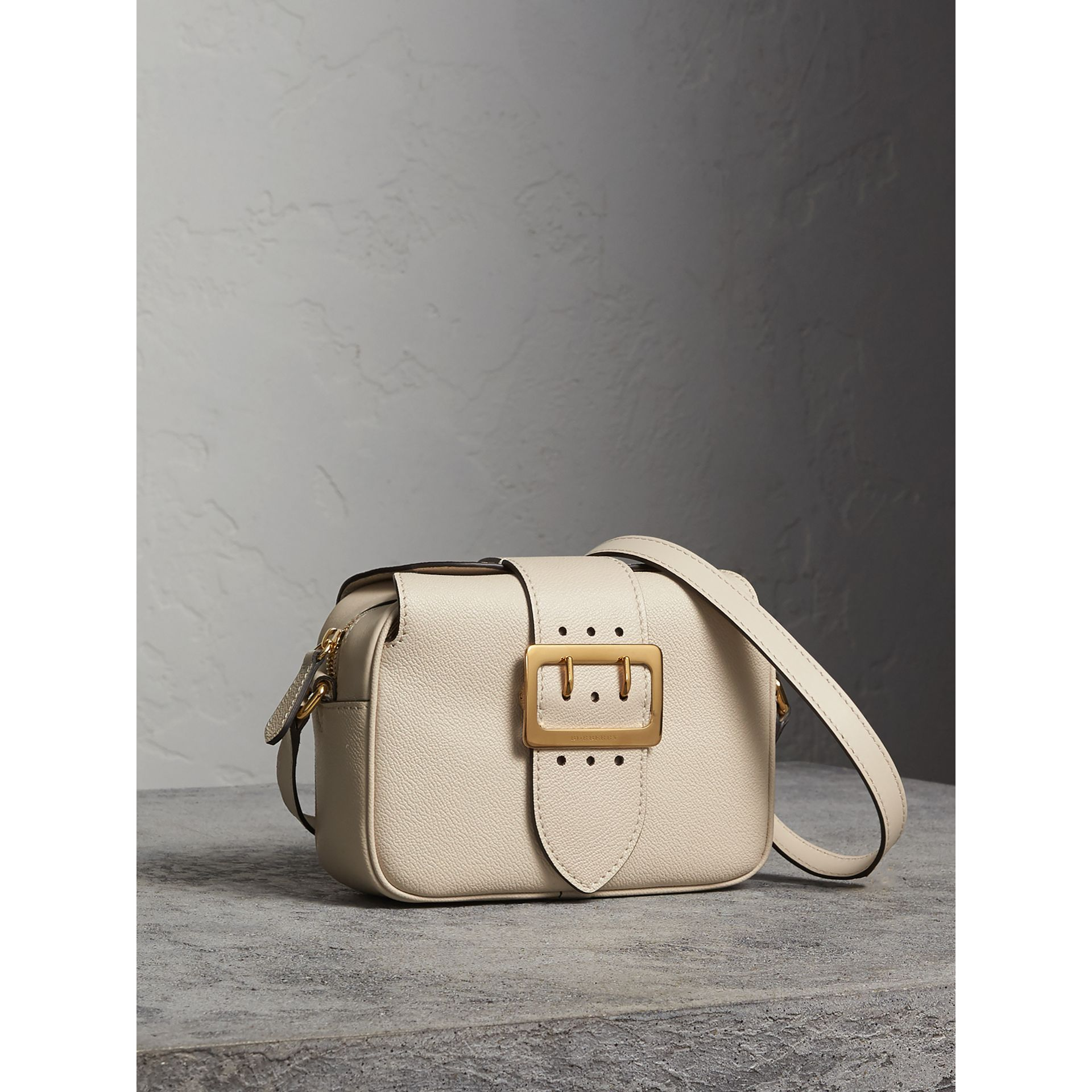 The Small Buckle Crossbody Bag in Leather in Limestone - Women | Burberry - gallery image 6