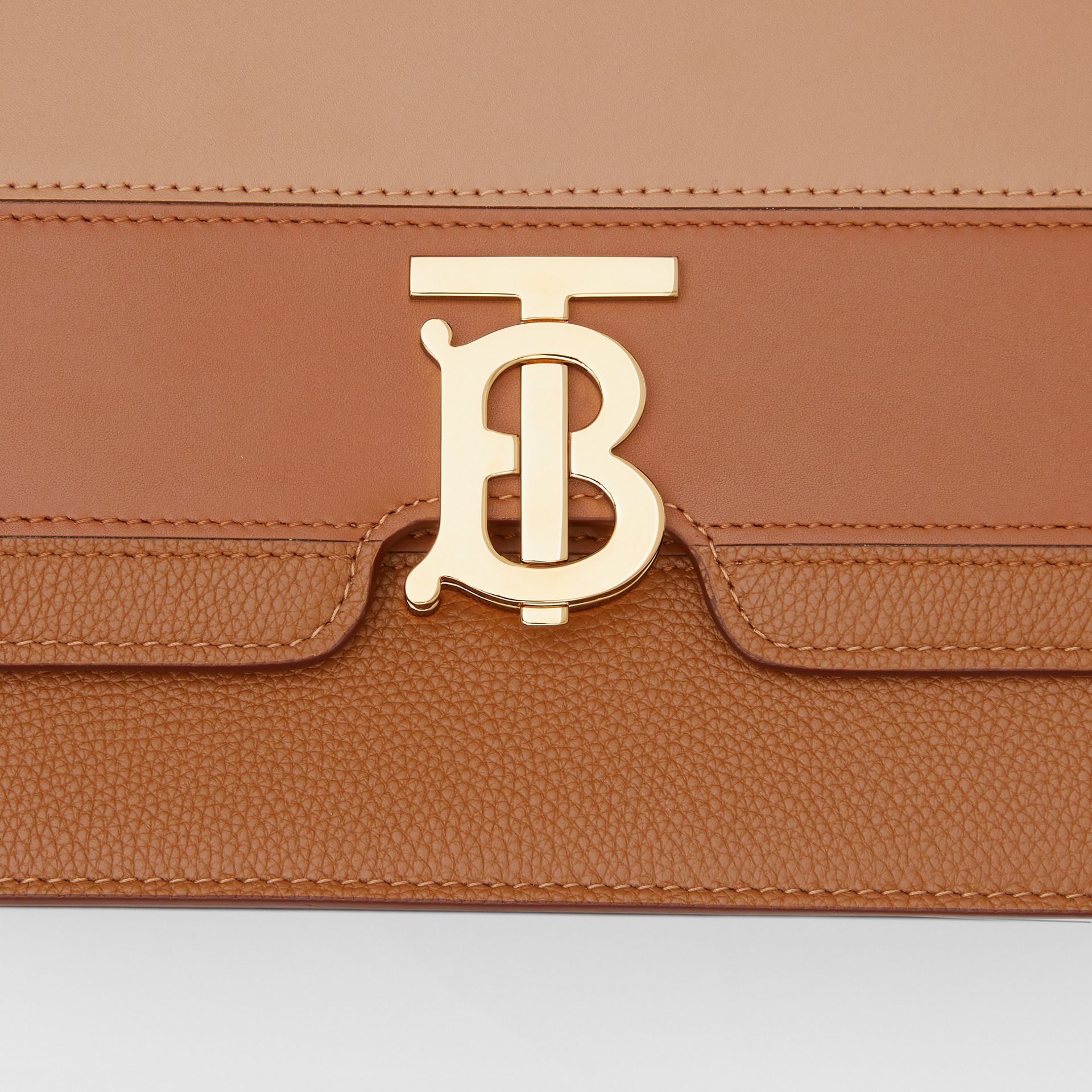 Medium Panelled Leather TB Bag in Maple - Women | Burberry - gallery image 1