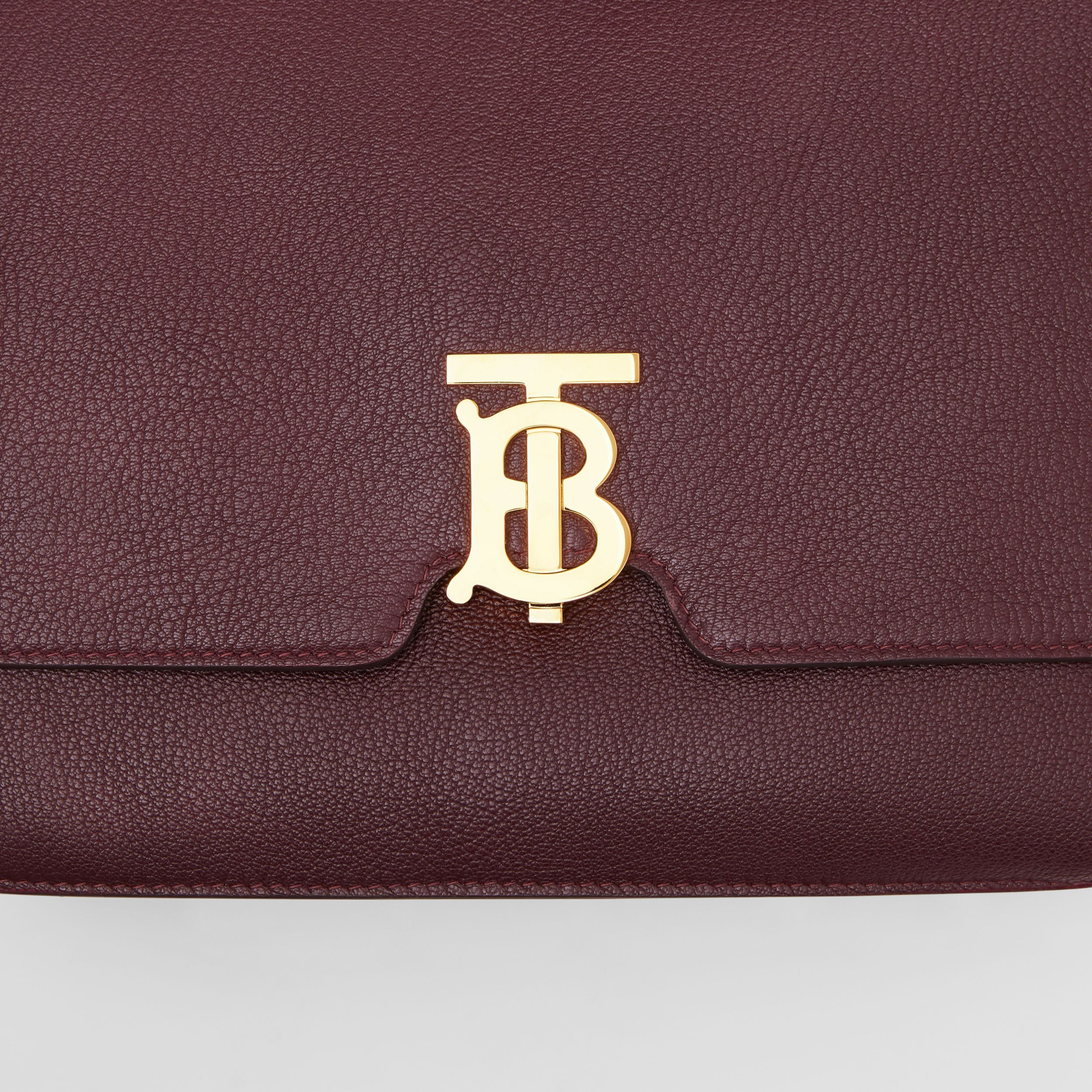 Medium Grainy Leather Alice Bag in Deep Claret - Women | Burberry - 2