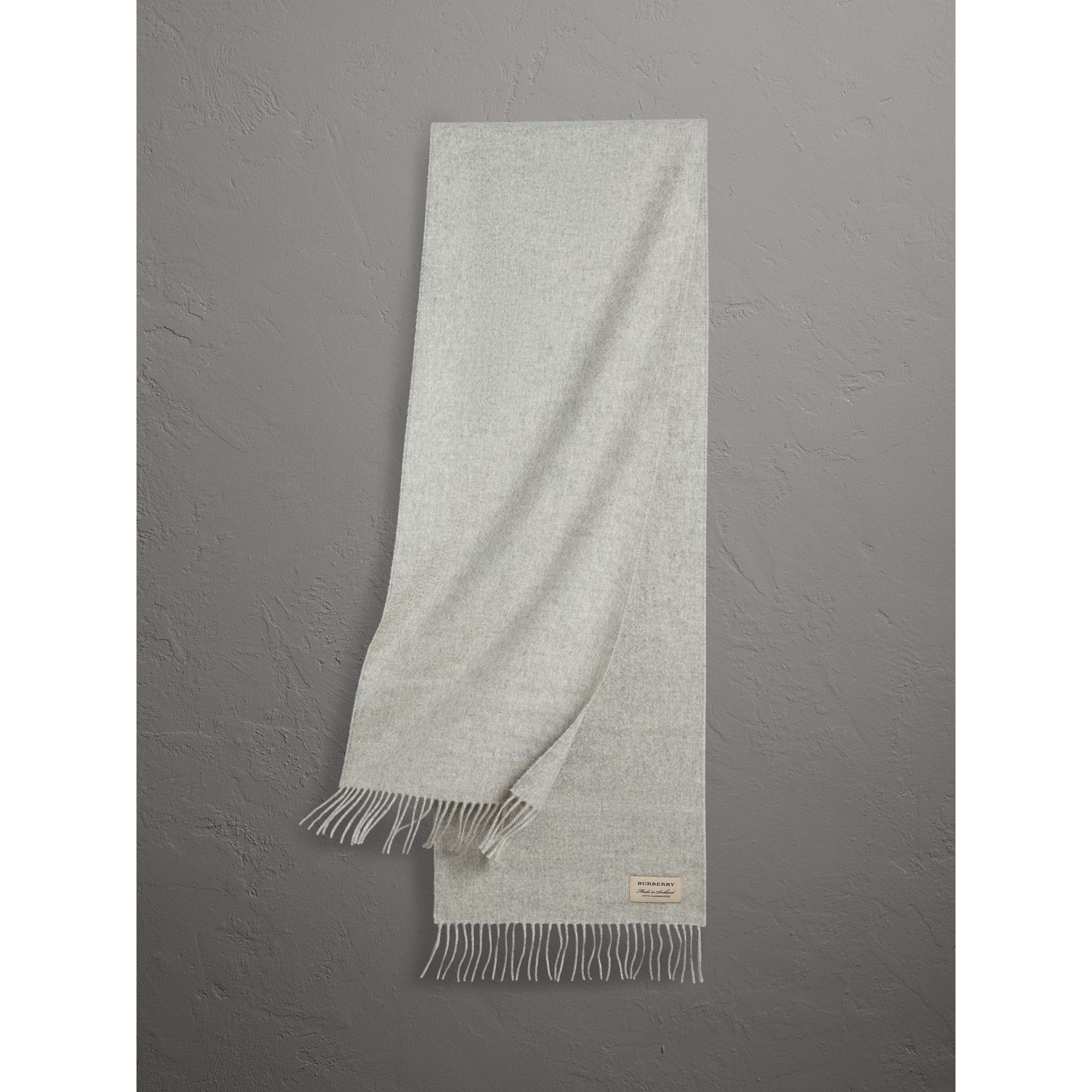 The Classic Cashmere Scarf in Pale Grey | Burberry United Kingdom - gallery image 0