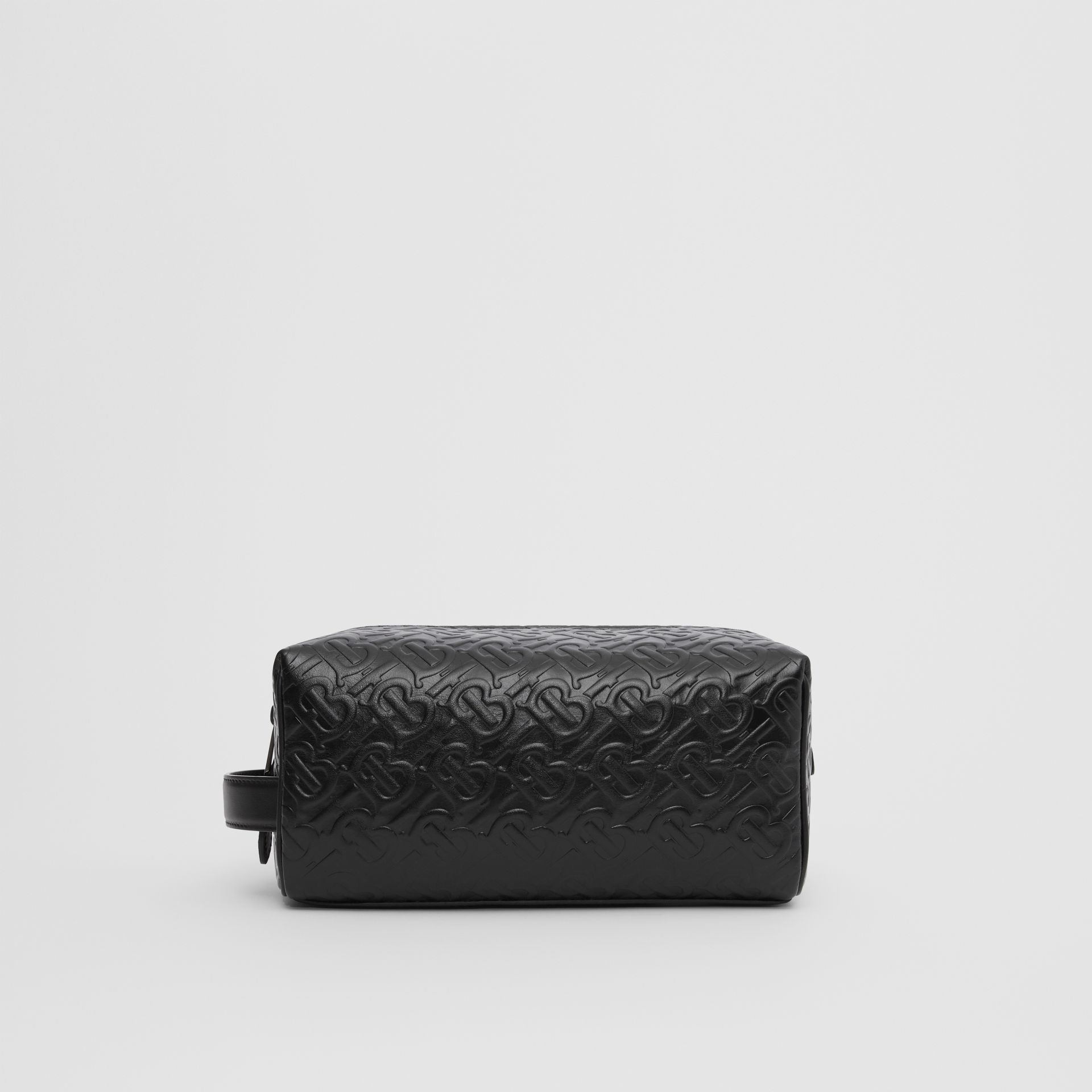 Monogram Leather Travel Pouch in Black - Men | Burberry - gallery image 7