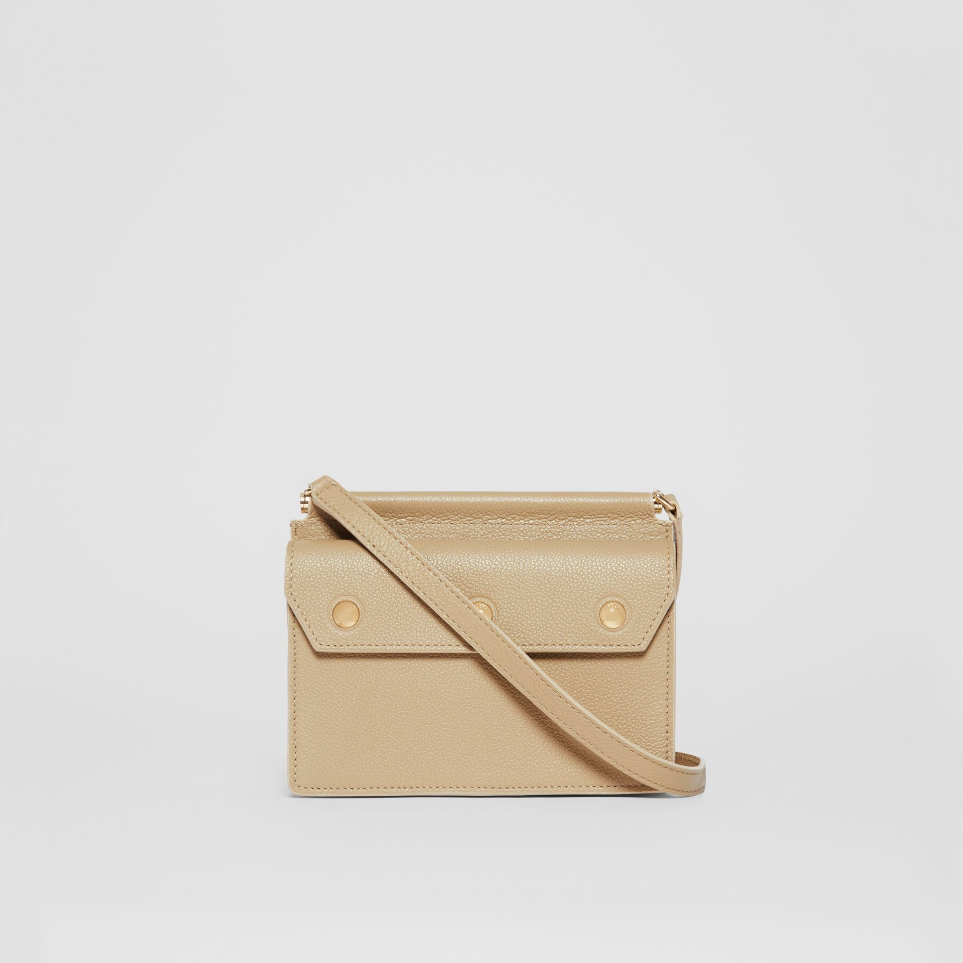 Mini Leather Title Bag in Honey - Women | Burberry - gallery image 7