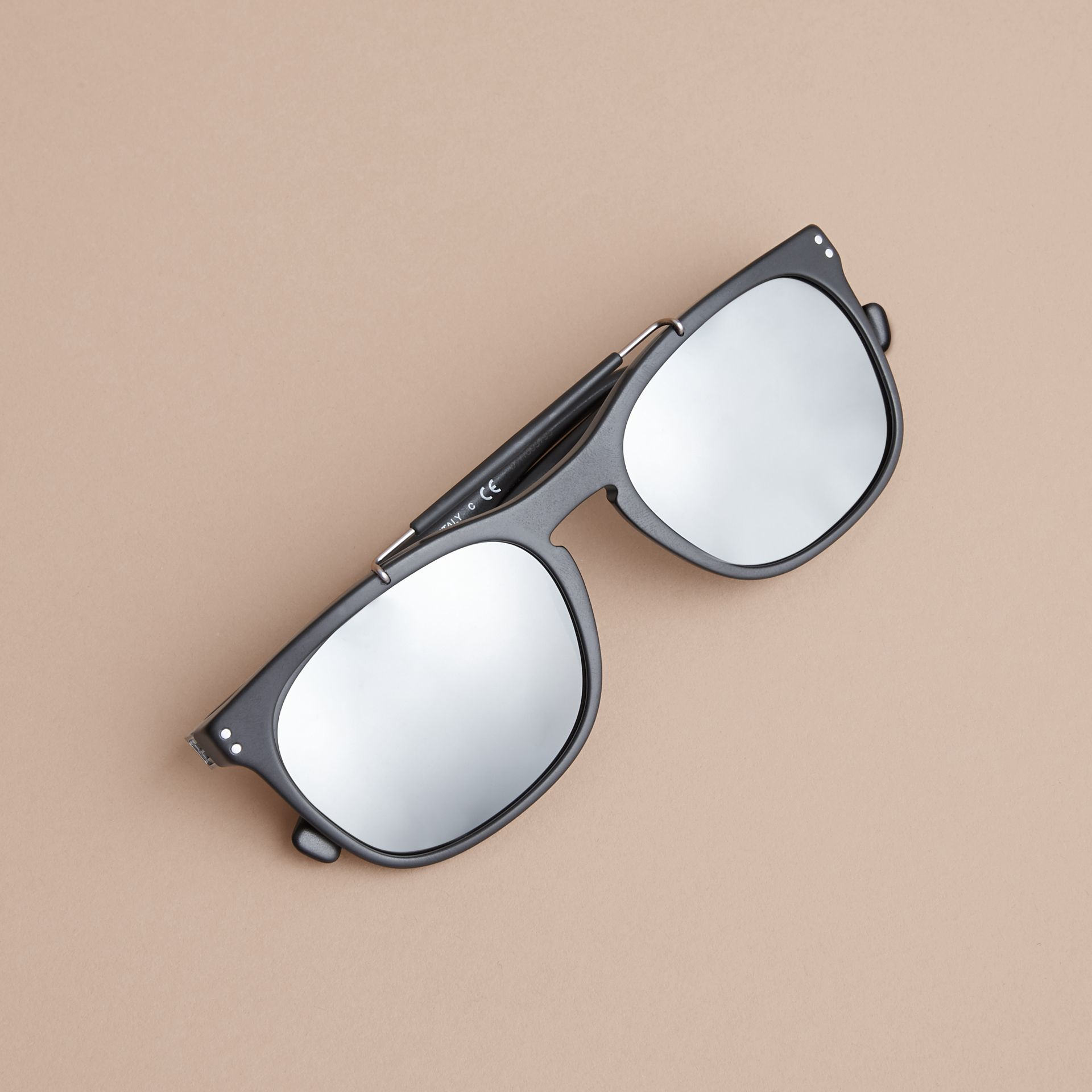 Top Bar Square Frame Sunglasses - gallery image 3
