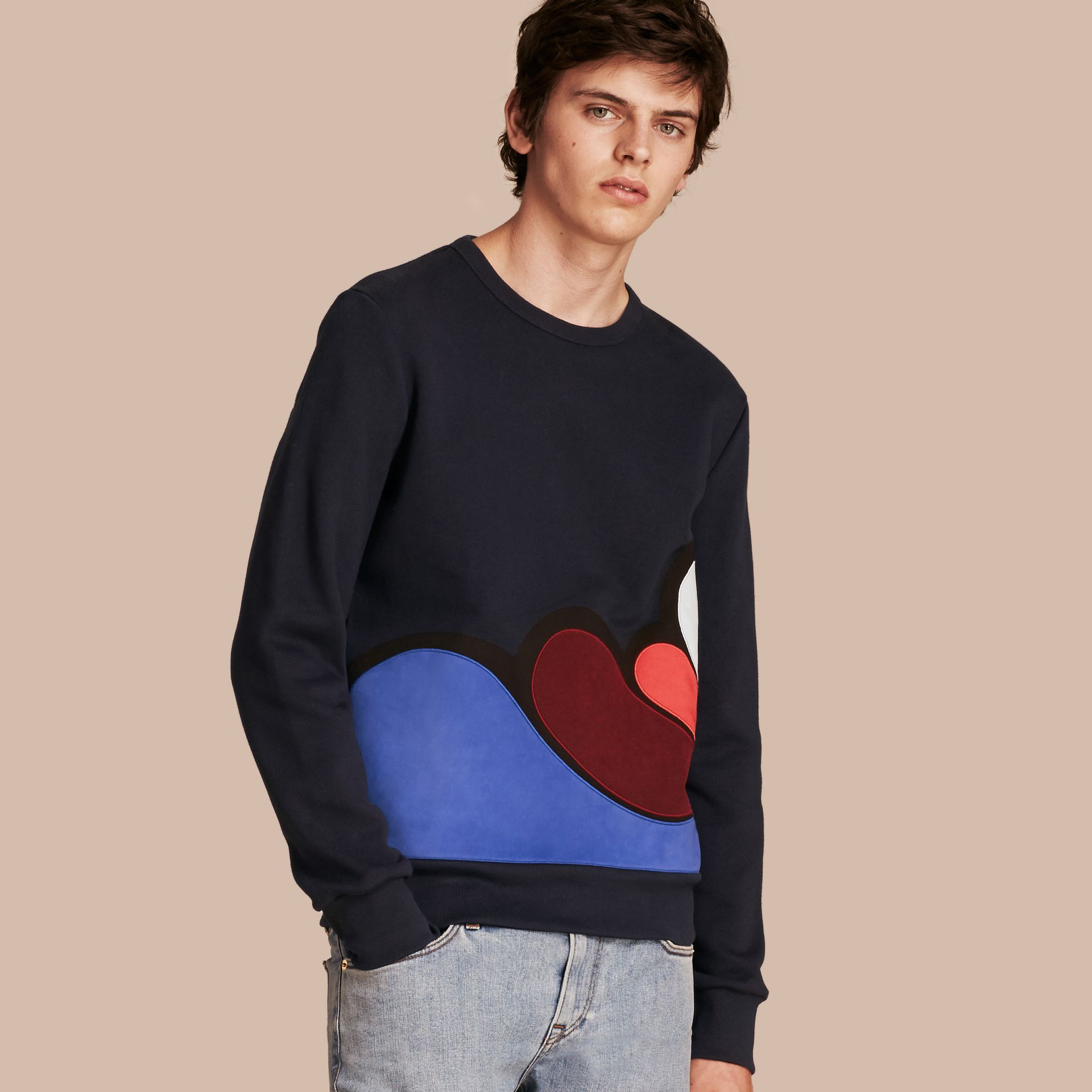 Splash Appliqué Jersey Sweater - gallery image 1