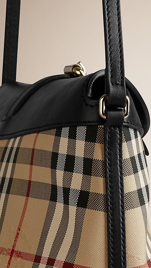 Honey/black Small Horseferry Check Clutch Bag - Image 7
