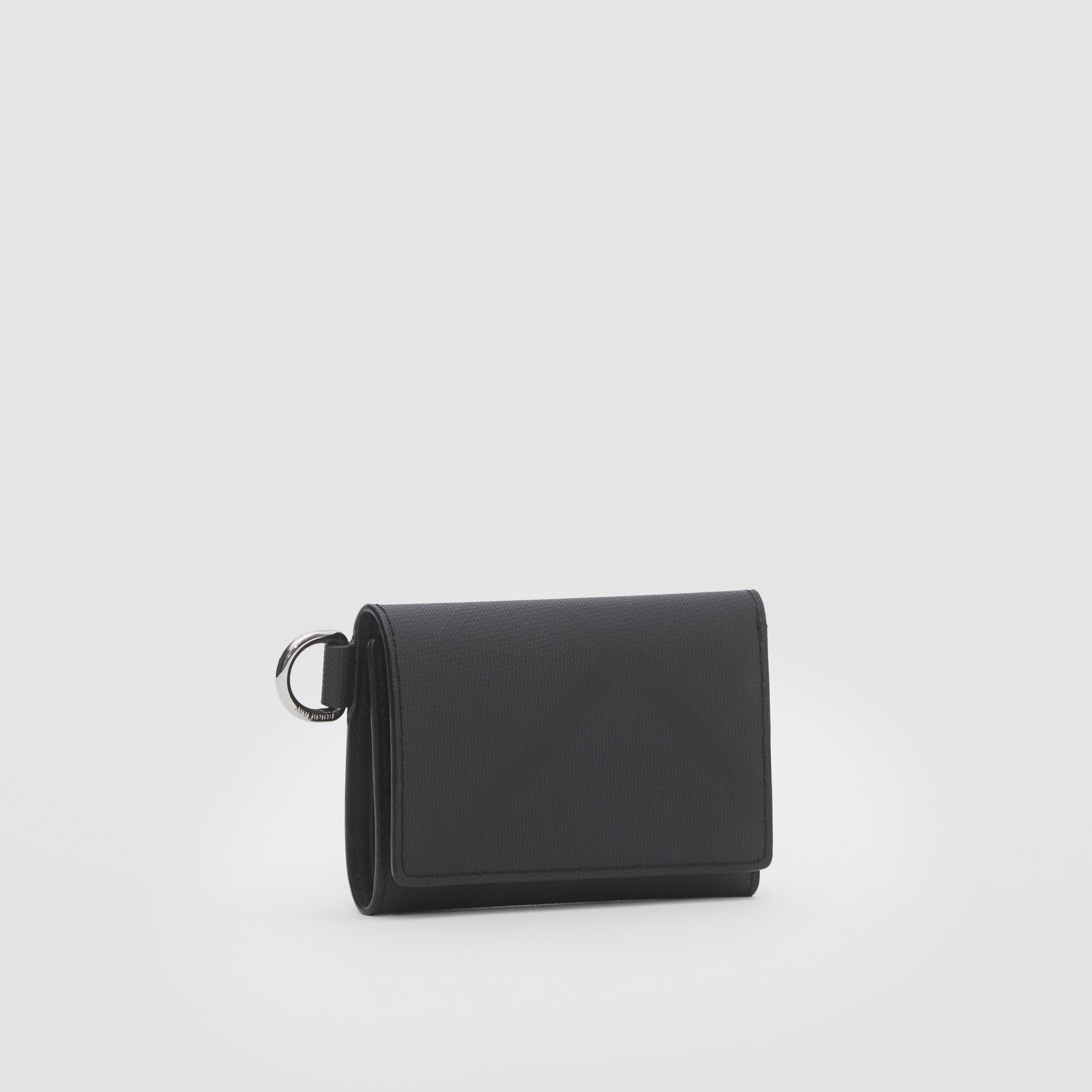 Small London Check Folding Wallet in Dark Charcoal - Men | Burberry United Kingdom - gallery image 3