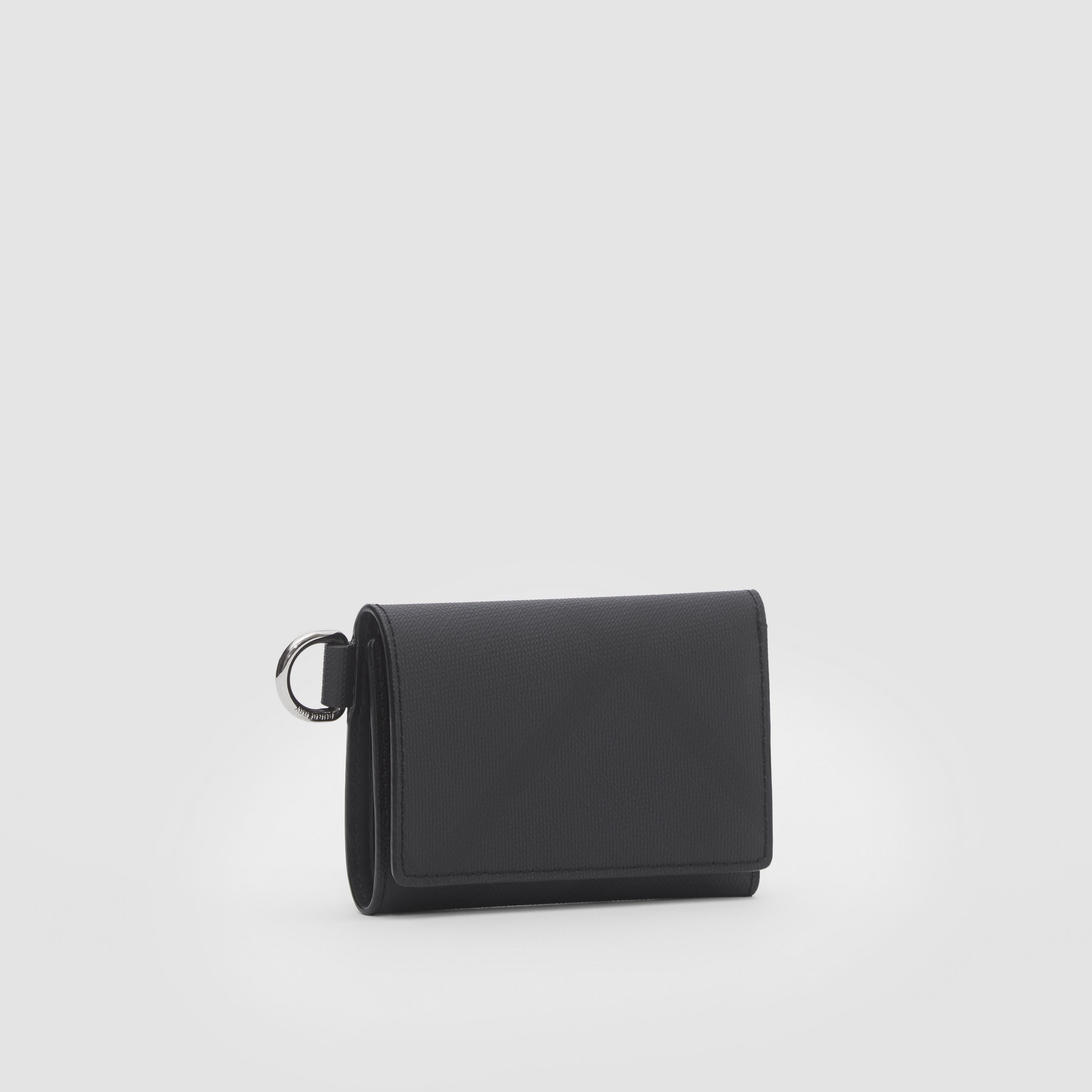 Small London Check Folding Wallet in Dark Charcoal - Men | Burberry - 4