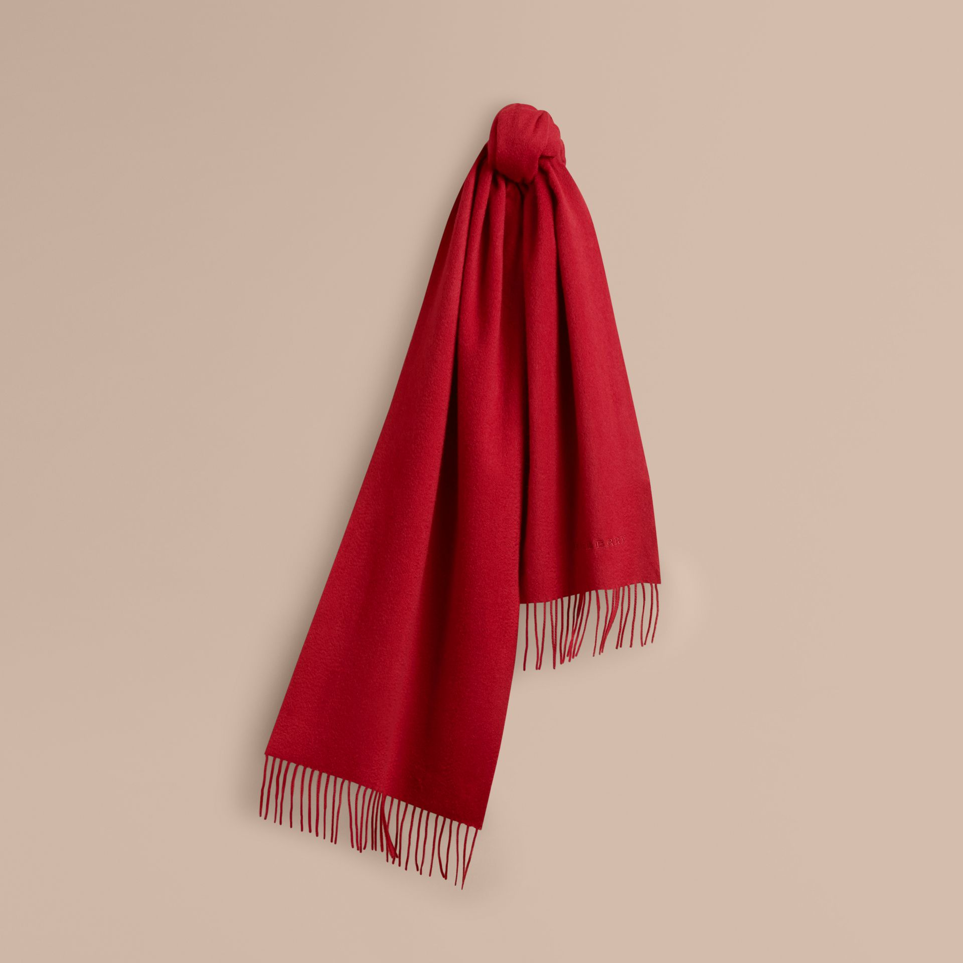 The Classic Cashmere Scarf in Parade Red | Burberry - gallery image 6