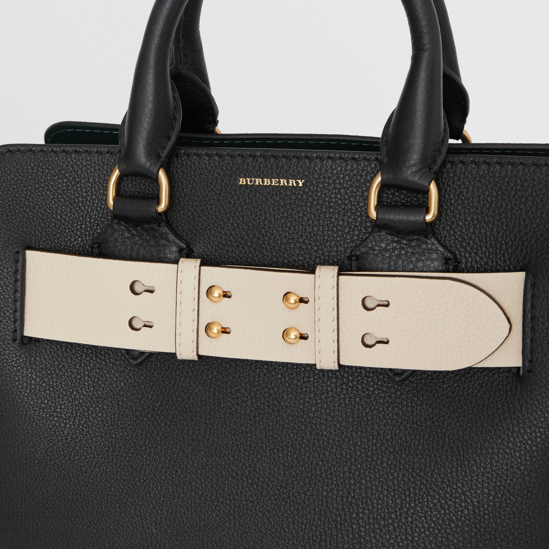 The Small Belt Bag Grainy Leather Belt in Limestone - Women | Burberry Singapore - gallery image 1