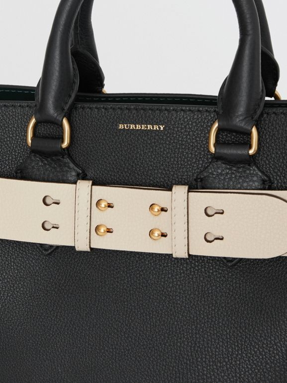 The Small Belt Bag Grainy Leather Belt in Limestone - Women | Burberry Singapore - cell image 1