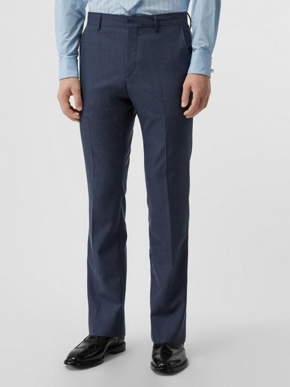Pantalon de costume classique en laine et mohair (Camaïeu  Bleus Acier)