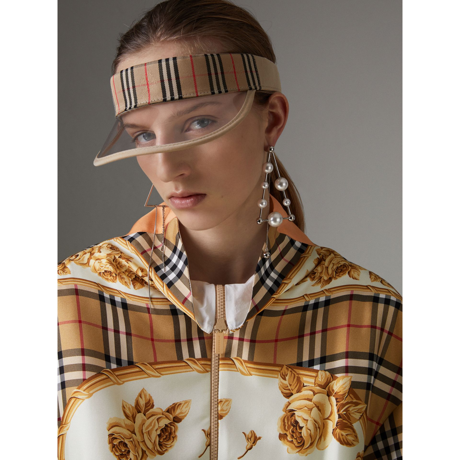 Vintage Check and Archive Scarf Print Jumpsuit in Antique Yellow - Women | Burberry Canada - gallery image 1