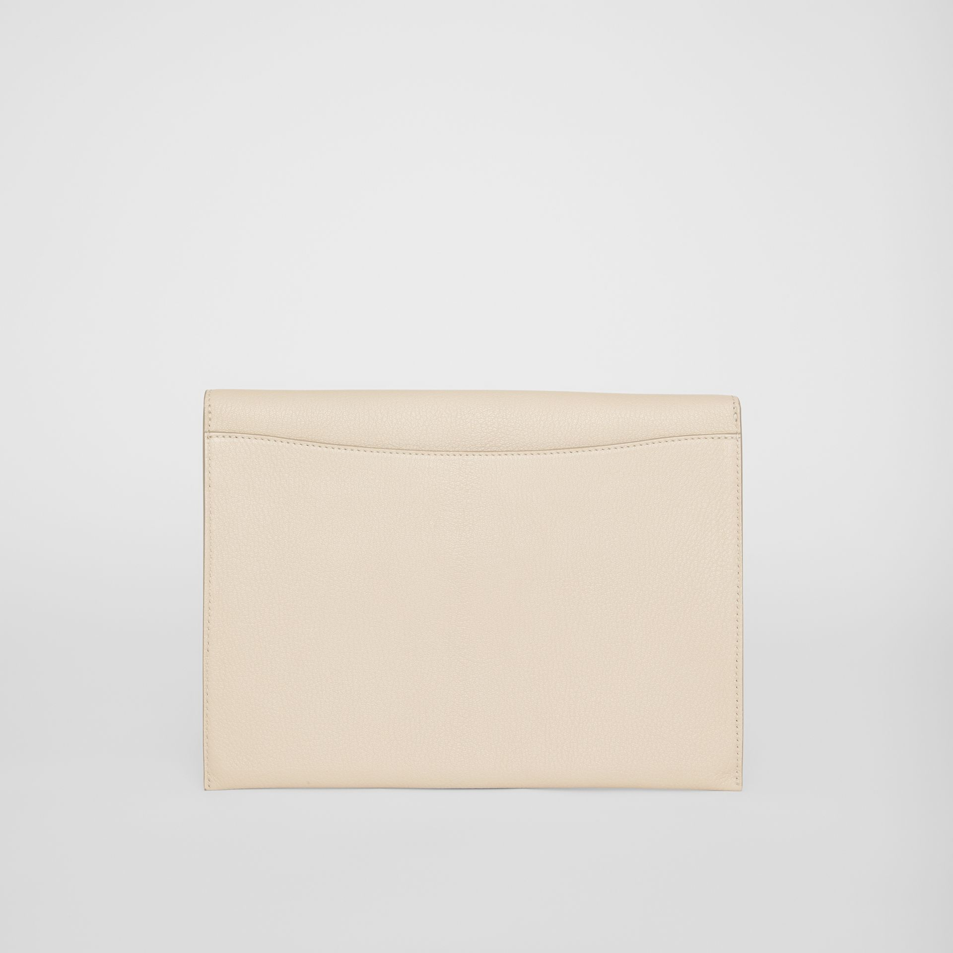 D-ring Leather Pouch in Stone - Women | Burberry - gallery image 8