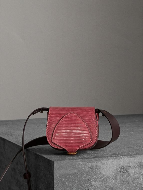 The Pocket Satchel in Lizard in Dark Crimson