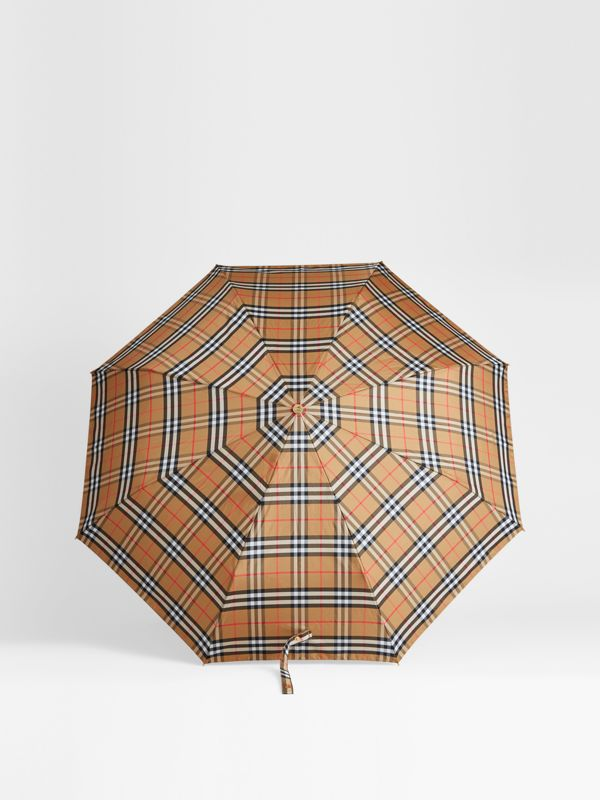 Parapluie télescopique à motif Vintage check (Jaune Antique/miel) | Burberry - cell image 2