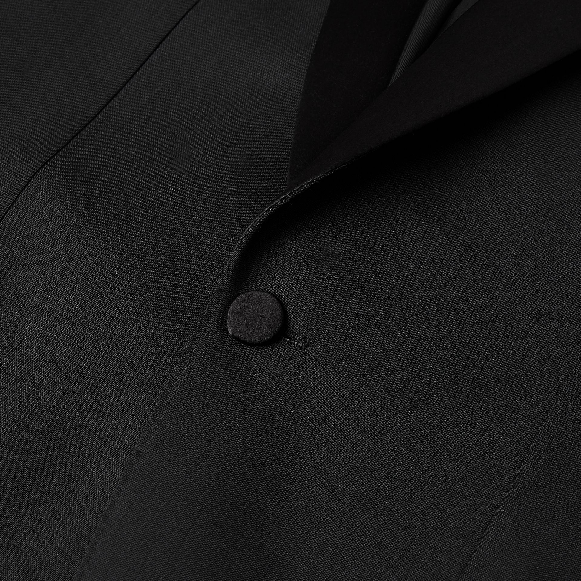 English Fit Mohair Wool Tuxedo in Black - Men | Burberry - gallery image 8