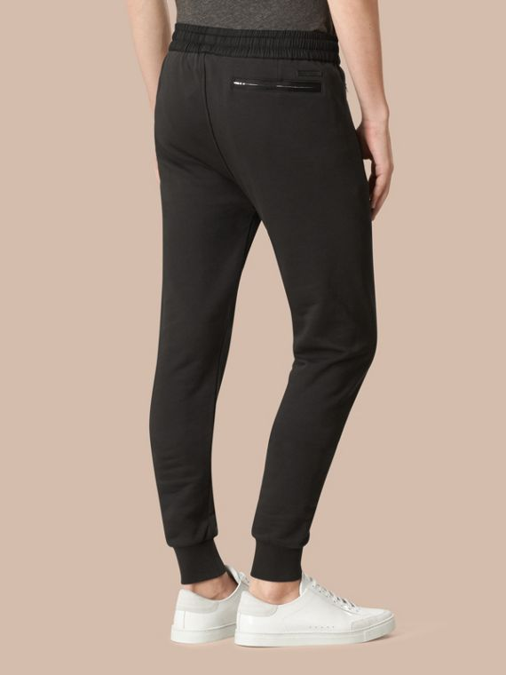 Black Cotton Sweat pants Black - cell image 2
