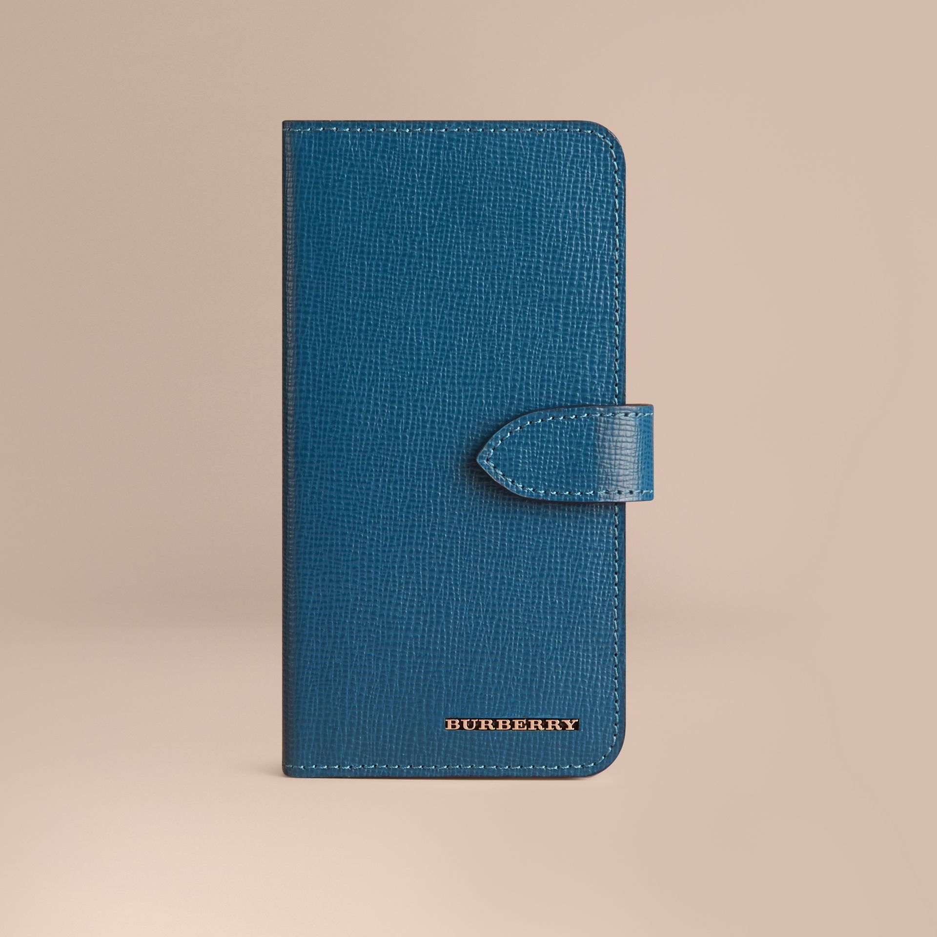 Mineral blue London Leather iPhone 6 Flip Case Mineral Blue - gallery image 1