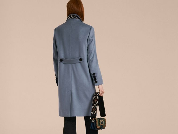 Pale blue Cashmere Tailored Coat - cell image 1