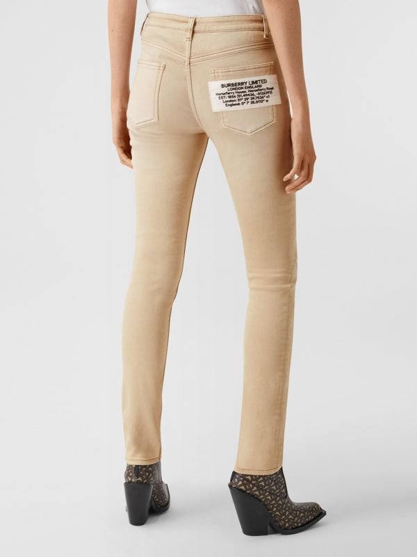 Skinny Fit Washed Japanese Denim Jeans in Honey - Women | Burberry United Kingdom - cell image 2
