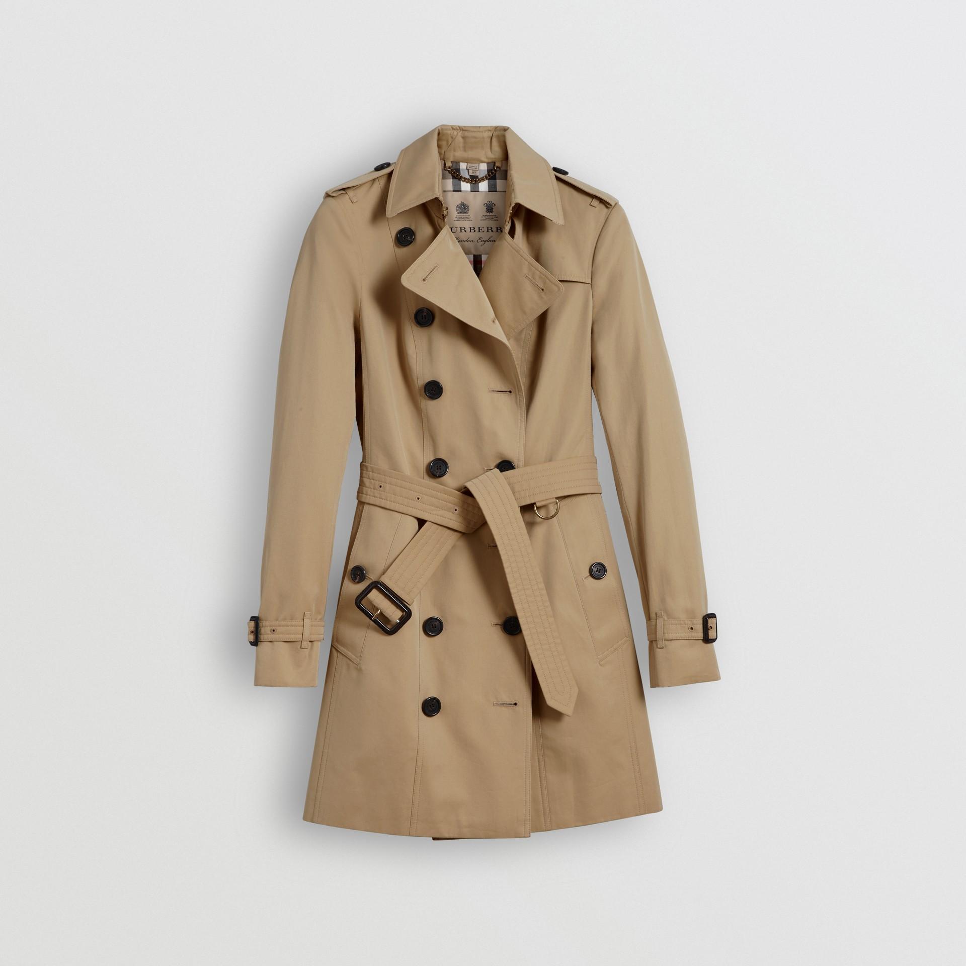 a30404bb6f60 The Sandringham – Mid-length Trench Coat in Honey - Women