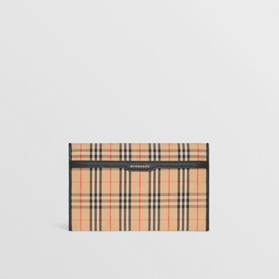 Medium 1983 Check And Leather Envelope Pouch by Burberry