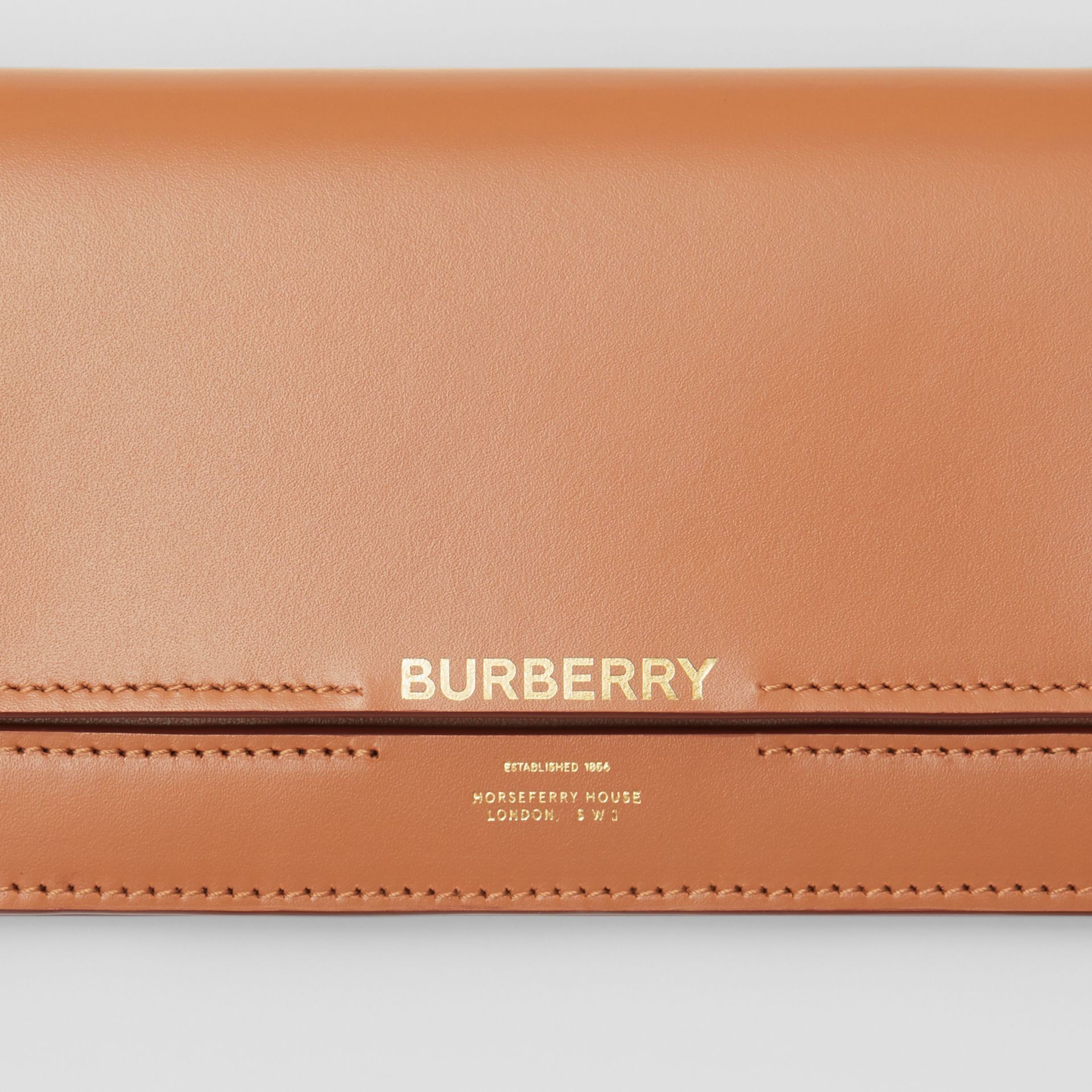 Horseferry Embossed Leather Continental Wallet in Nutmeg - Women | Burberry - gallery image 1