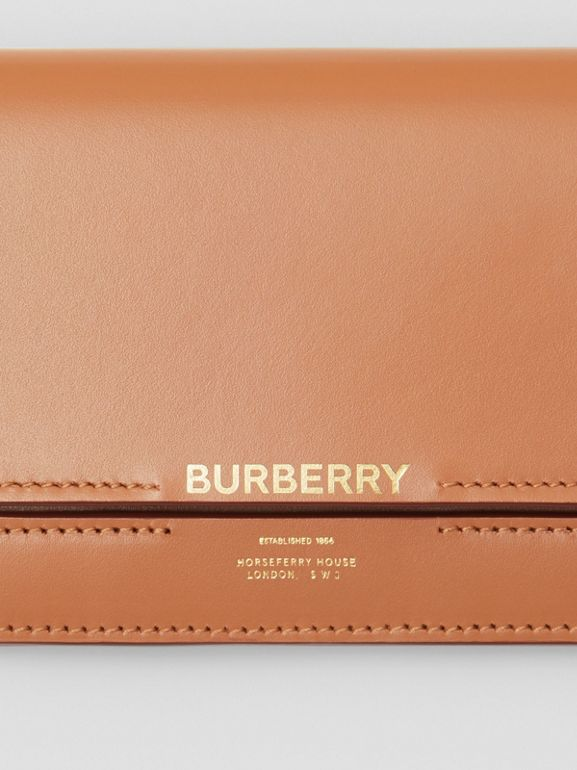 Horseferry Embossed Leather Continental Wallet in Nutmeg - Women | Burberry - cell image 1