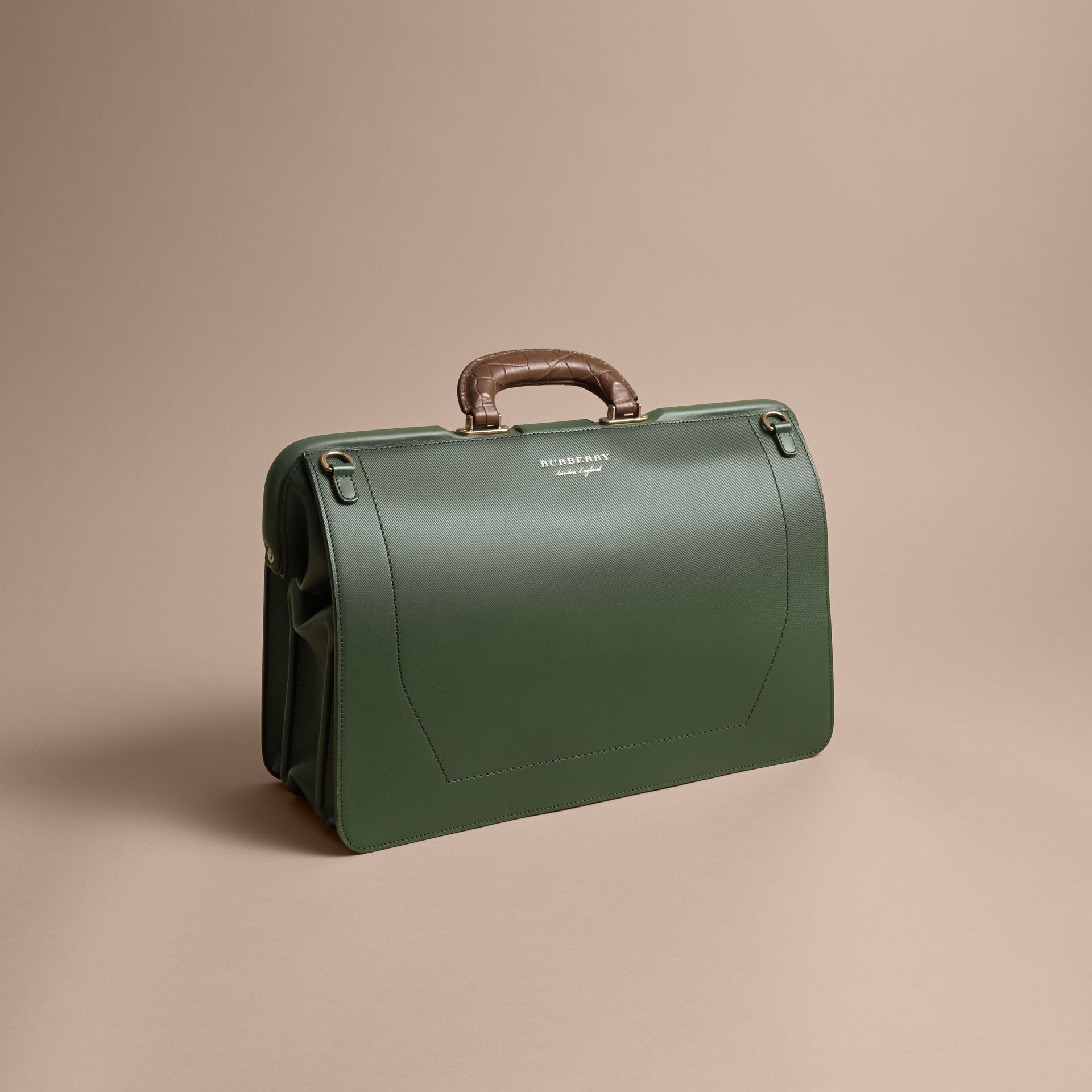The DK88 Doctor's Bag with Alligator in Dark Forest Green - Men | Burberry United Kingdom - gallery image 4