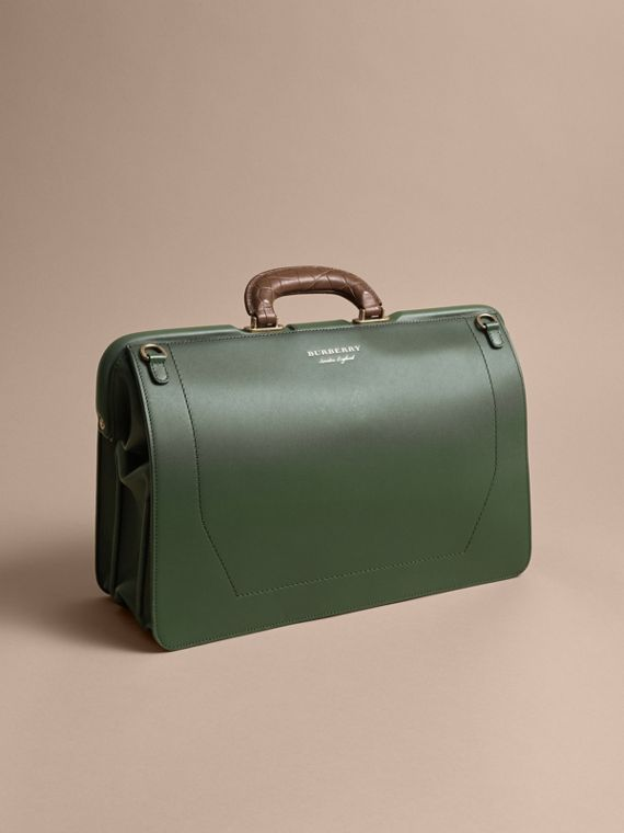 The DK88 Doctor's Bag with Alligator in Dark Forest Green - Men | Burberry United Kingdom - cell image 3